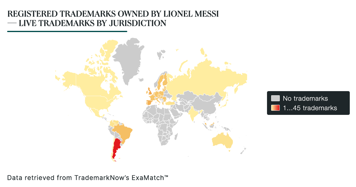 Registered Trademarks Owned by Lionel Messi — Live Trademarks By Jurisdiction
